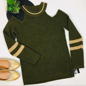 I.N.C. Metallic Cold-Shoulder Sweater
